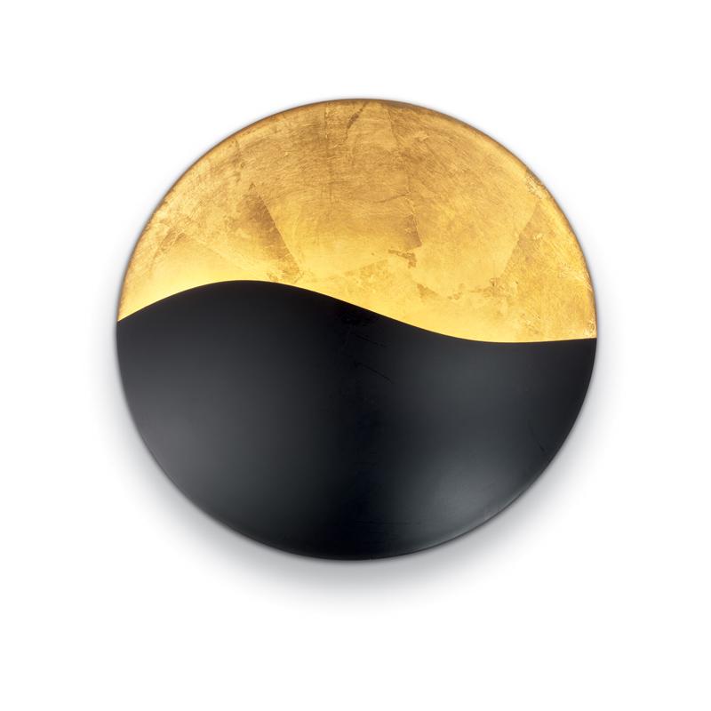 lampada da muro etnica orientale nero e oro