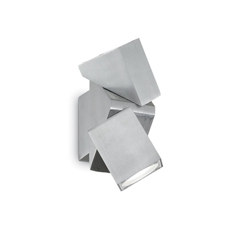 faretto da muro cromato argento