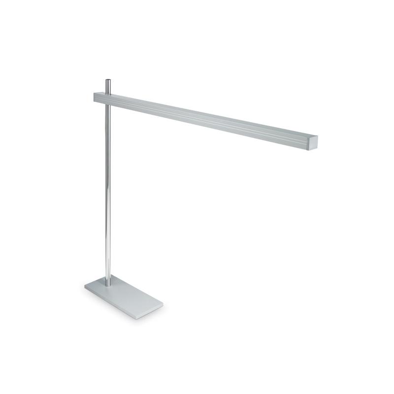 lampada da tavolo cromata alluminio