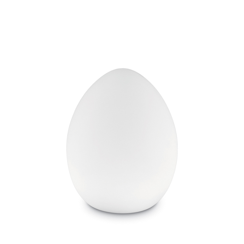 Lampada da giardino design pure white forma uovo