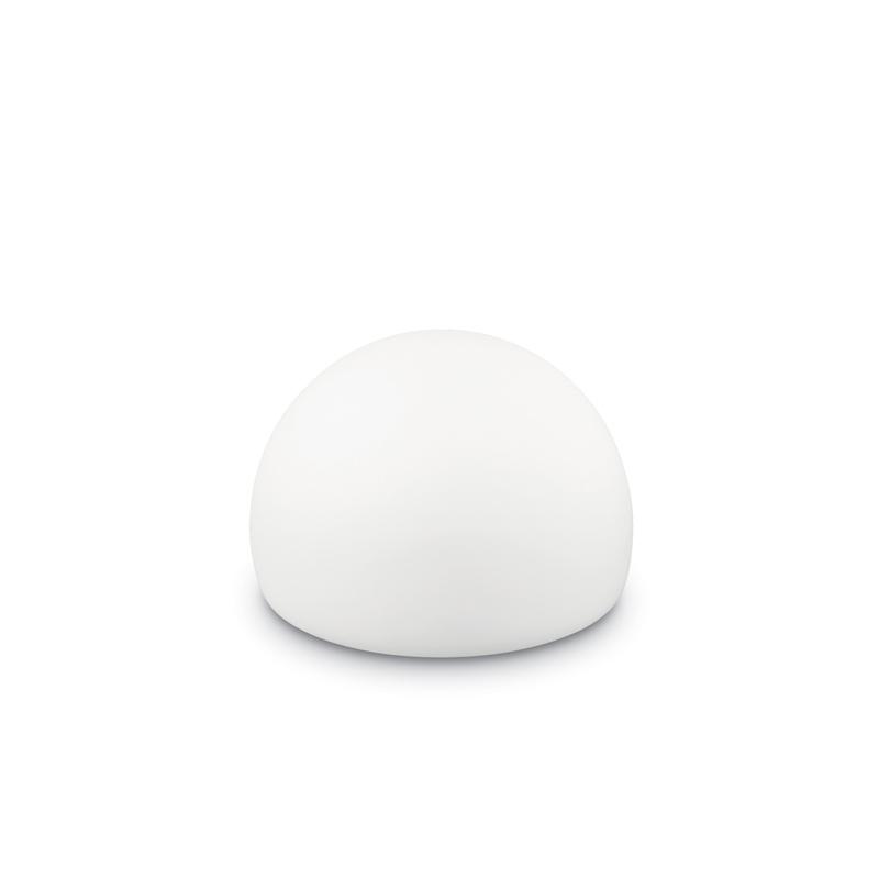 Lampada da giardino design pure white forma semisfera