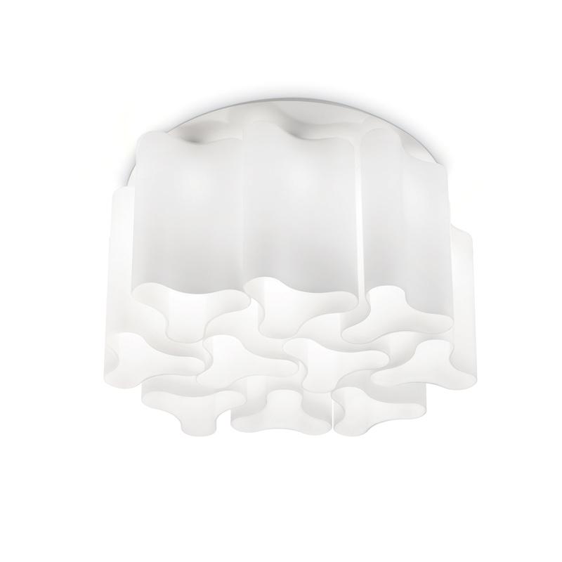 plafoniera bianca effetto onde