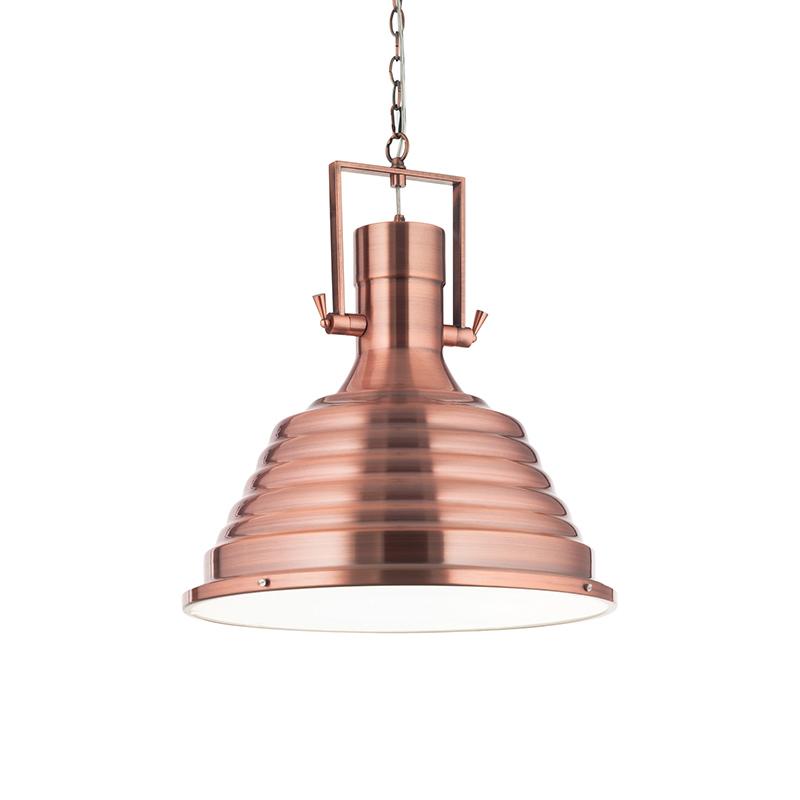 Lampadario da soffitto in rame industrial design