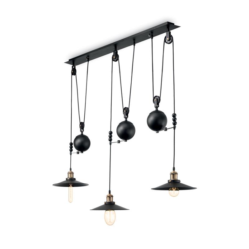 Industrial design lampadario nero arredamento