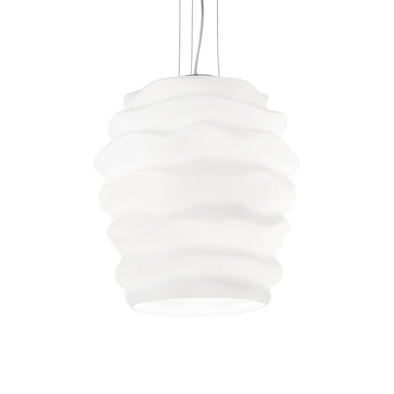 Lampadario da soffitto bianco effetto onde