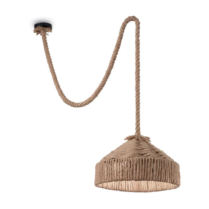Jungle style lampada in corda di canapa