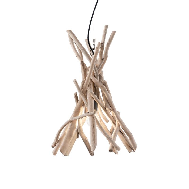Lampada a soffitto in legno
